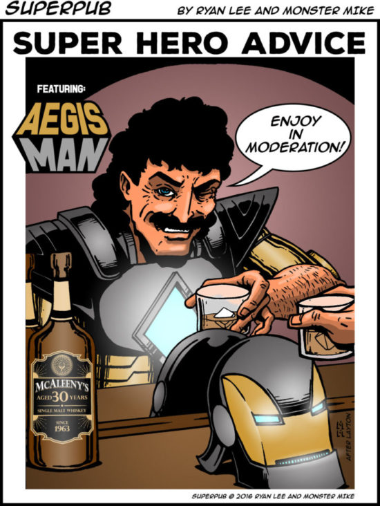 Superpub: Superhero Advice featuring Aegis-Man